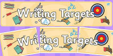 Writing Targets Display Banner