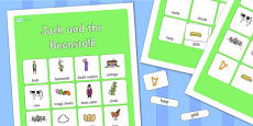 Jack and the Beanstalk Vocabulary Mat Poster