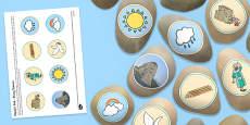 Noah's Ark Story Stones Image Cut-Outs