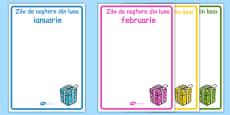 Editable Birthday Display Posters Romanian