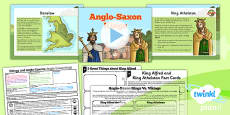 PlanIt - History LKS2 - Vikings and Anglo-Saxons Lesson 2: Anglo Saxon Kings Lesson Pack