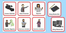 Newsroom Role Play Badges