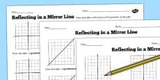 Reflections in a Mirror Line Worksheet