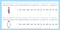 Alphabet Strips to Support Teaching on Lost and Found