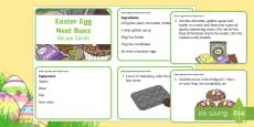 Easter Egg Nests Recipe Cards