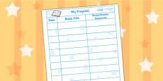 Reading Record Teacher Parent Comments Sheet