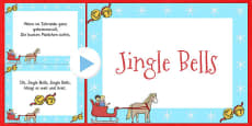 Jingle Bells Christmas Carol Lyrics PowerPoint German