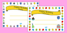 General Happy Birthday Certificates Portuguese Translation