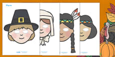 Thanksgiving Role Play Masks