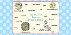 The Tale of Jemima Puddle Duck Word Mat (Beatrix Potter)
