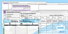 PlanIt - History LKS2 - The Railways Unit Assessment Pack
