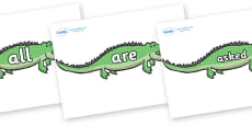 Tricky Words on Crocodiles