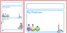 Science Experiment Recording Sheet - EY & KS1