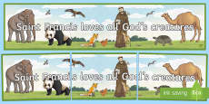 * NEW * Saint Francis Gods Creatures Display Banner