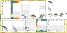 The Kangaroo and the Porpoise Page Borders Pack