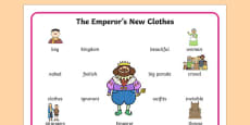 The emperor's New Clothes Word Mat