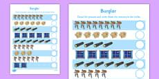 Burglar Counting Sheet