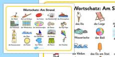 Seaside Word Mat German