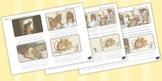 The Tale of Two Bad Mice Storyboard Template (Beatrix Potter)