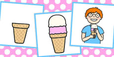 3 Step Sequencing Cards: Ice Cream