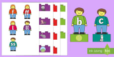 Phase 2 Toy Figures Phonics Matching Game