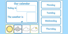 Daily Calendar/Weather Chart