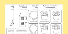 Reading Comprehension Six Key Words Activity Sheets Polish