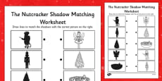 The Nutcracker Shadow Matching Worksheet