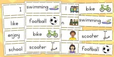 Transition Word Bank Word Cards