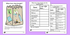 What Have They Bought?' Making Inferences Activity