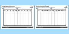 Money Counting and Sorting Activity Sheet