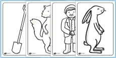 Colouring Sheets to Support Teaching on Percy The Park Keeper