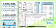 PlanIt Y6 Term 2A Bumper Spelling Pack