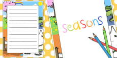 Seasons Decorative Page Border
