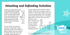 PlanIt PE Year 1 Attacking and Defending Home Learning Tasks