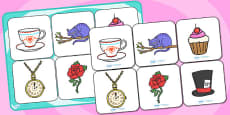 Alice in Wonderland Matching Cards and Board