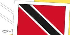 Trinidad and Tobago Flag Display Poster
