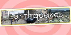 Earthquake Photo Display Banner (Australia)