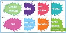 * NEW * Culori Planșe cu vocabular