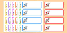 Editable Drawer - Peg - Name Labels (Rockets)