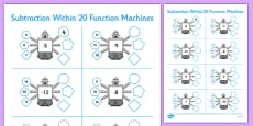 Subtraction Within 20 Function Machines