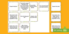 How to Make a Hangi Sequencing Cards