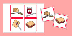 Making a Jam Sandwich Sequencing Cards