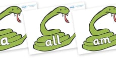 Foundation Stage 2 Keywords on Snakes