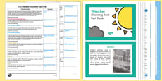 EYFS Weather Discovery Sack Plan and Resource Pack