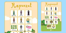 Rapunzel Vocabulary Poster
