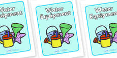 Water Equipment Label
