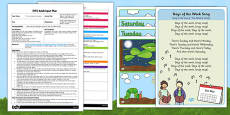 Days of the Week Activity EYFS Adult Input Plan and Resource Pack to Support Teaching on The Very Hungry Caterpillar
