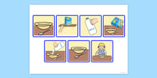 7 Step Sequencing Cards - Eating Breakfast