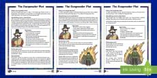 KS1 The Gunpowder Plot Differentiated Fact File